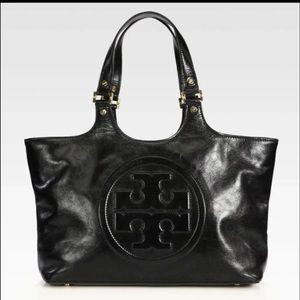 Tory burch black bombe tote bag